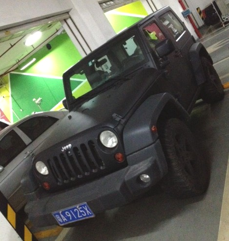 Jeep Wrangler Is Matte Black In China Carnewschina Com