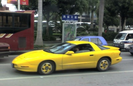 Spotted in China: Pontiac Firebird in Yellow