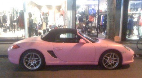 Porsche Boxster is Pink in China