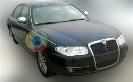 Spy Shots: Roewe 750 with Shanghai badges