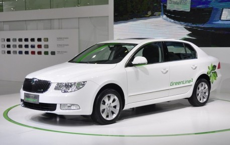Skoda Superb Greenline2 launched at the Guangzhou Auto Show