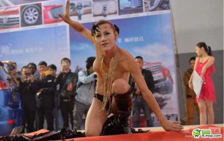 Dangerous Animals at the Guiyang Auto Show in China