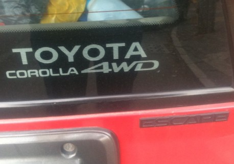 Spotted in China: Toyota Corolla 4WD Escape