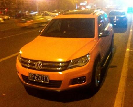 Volkswagen Tiguan is Pink in China