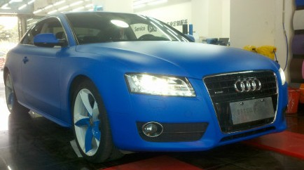 Audi A5 is matte blue in China