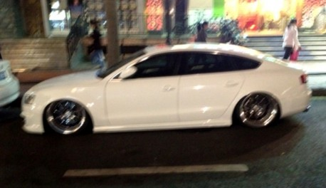 Audi S5 Sportback is a Lowrider in China