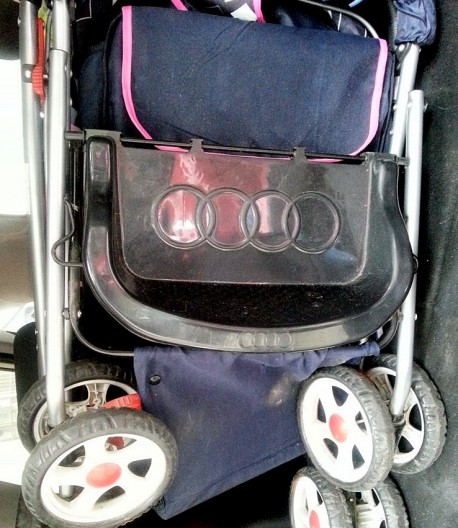 Audi branded baby stroller from China