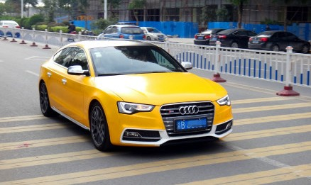Audi S5 Sportback is Yellow in China