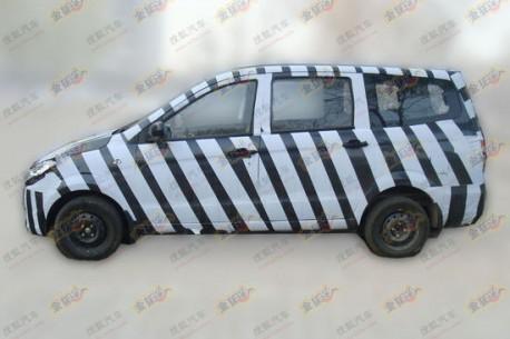 Spy Shots: Beijing Auto Weiwang MPV testing in China
