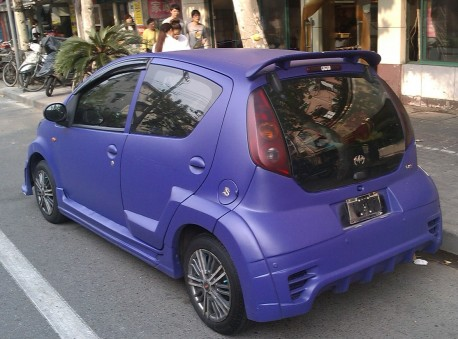 BYD F0 is a matte purple 1.8 turbo Batmobile in China