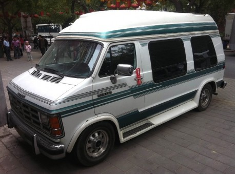 Spotted in China: second generation Dodge Ram Van RV