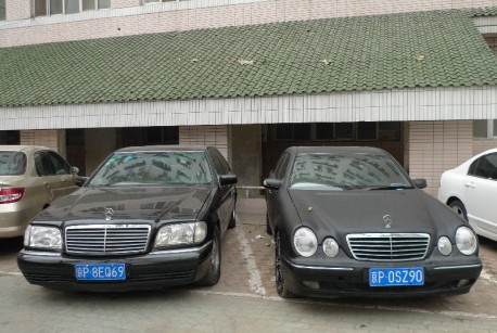 Spotted in China: double Benz