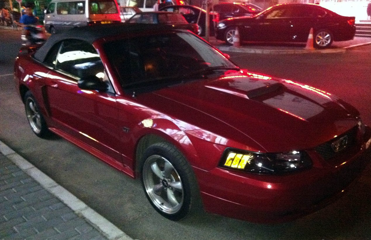 Spotted in china fourth generation ford mustang gt convertible