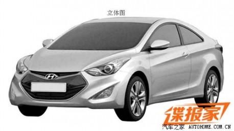 Patent Applied: Hyundai Elantra Coupe to come to China