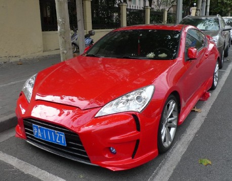 Hyundai Rohens Coupe is very Red in China