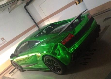 Bling! Lamborgini Gallardo Superleggera is Shiny Green in China