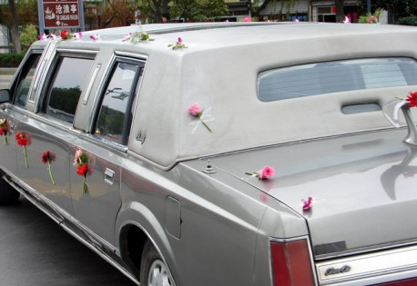 First Generation Lincoln Town Car is a Wedding Limousine in China