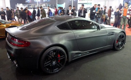 Mansory Aston Martin DB9 is matte black carbon fiber in China