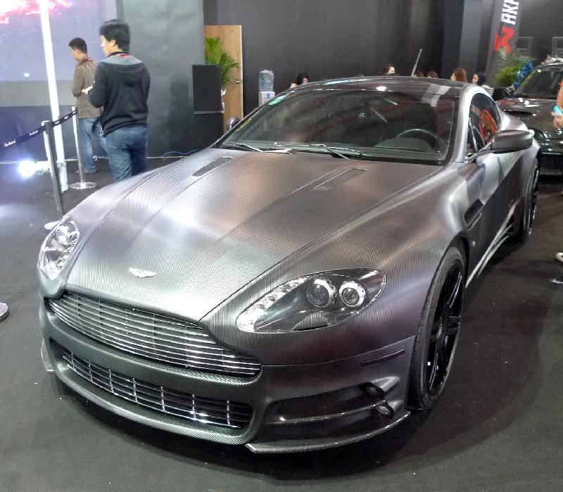Aston Martin Db9: Mansory Aston Martin DB9 Is Matte Black Carbon Fiber In