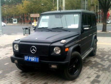 Mercedes-Benz G500 is matte black in China