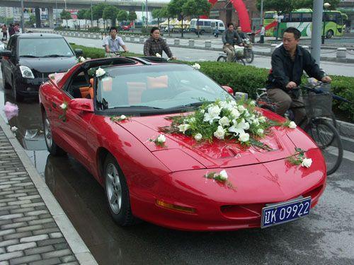 Pontiac Firebird is a Wedding Car in China - CarNewsChina.com
