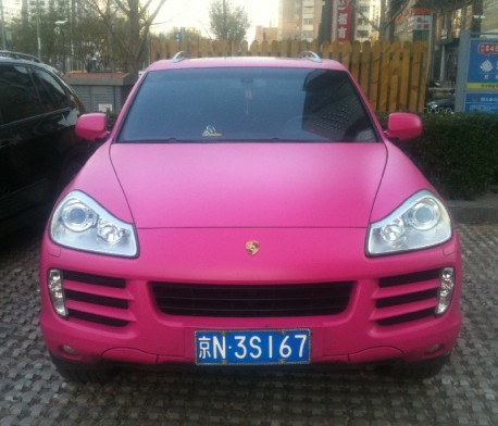 Porsche Cayenne is Pink in China