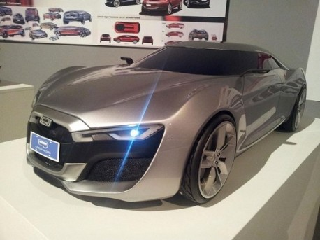 Qoros concept car for the Geneva Auto Show unveiled in China