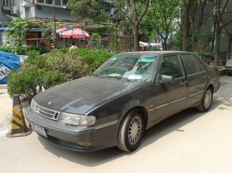 Spotted in China: Saab 9000 CD