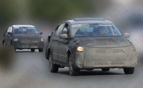 Spy Shots: Skoda Rapid seen testing in China