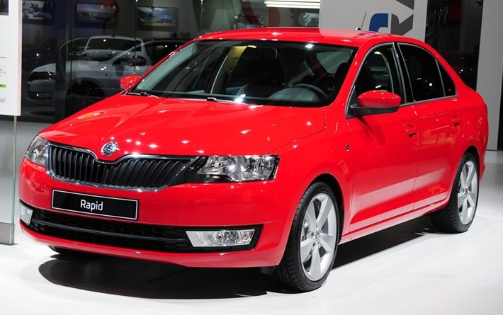 spy shots skoda rapid seen testing in china. Black Bedroom Furniture Sets. Home Design Ideas