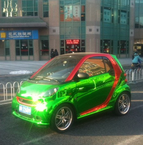 Bling! Smart ForTwo is shiny green in China