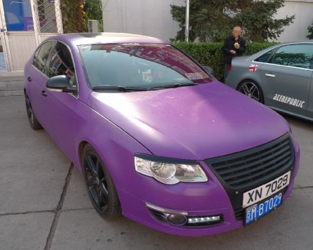 Volkswagen Magotan is matte purple in China