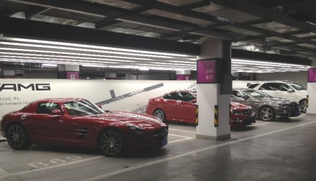 Only AMG in a parking garage in China