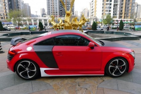 Audi TT is a red Audi R8 in China