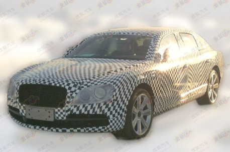 Spy Shots: new Bentley Continental Flying Spur testing in China