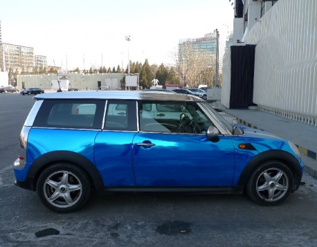 Bling! Mini Clubman is metallic-shiny blue in China
