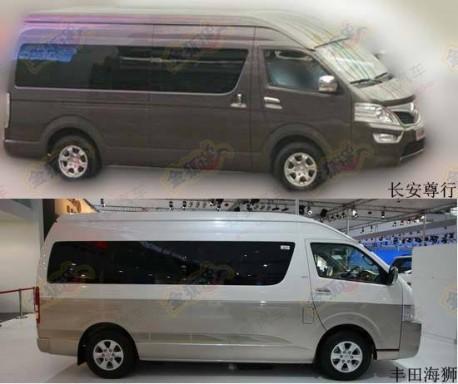 Spy Shots: Chang'an Zunhang goes for the Toyota Hiace