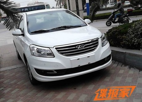 Spy Shots: Chery E3 testing in China