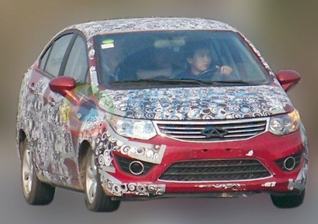 Spy Shots: Chery E2 sedan testing in China
