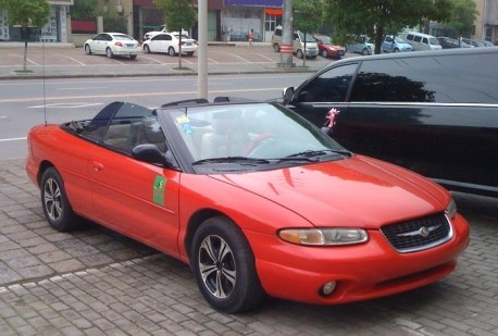 First generation Chrysler Sebring Convertible is a Wedding Car in China