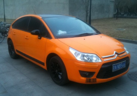 Citroen C4 is Orange in China