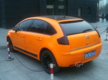 Citroen C4 is Orange in China