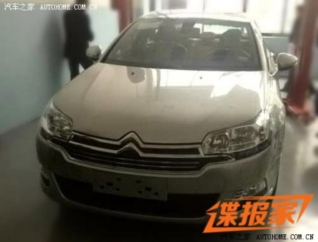 Spy Shots: close up with the facelifted Citroen C5 in China