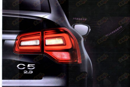 Spy Shots: facelifted Citroen C5 leaks out in China