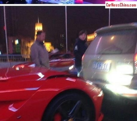 First Ferrari F12berlinetta crash in the World, in China