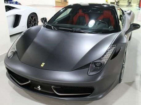 Ferrari 458 Italia is matte gray in China