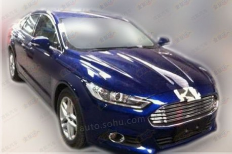 Spy Shots: China-made Ford Mondeo gets an extra shiny Grille