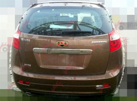 Spy Shots: Geely Emgrand EX8 SUV testing in China