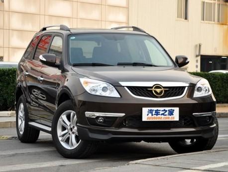Spy Shots: facelifted Haima 7 SUV testing in China