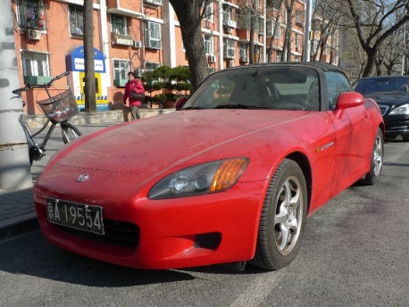 Spotted in China: Honda S2000 in Red